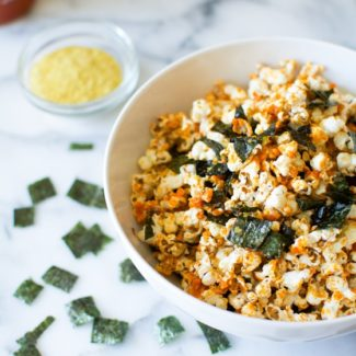 Sriracha Popcorn with Nori | rootandrevel.com