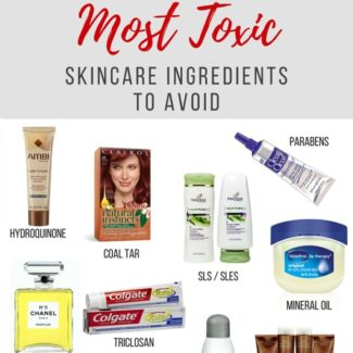 Personal care products are filled with toxic, harmful chemicals. Here's a cheat sheet to the ten most important toxic skincare ingredients to avoid. | rootandrevel.com