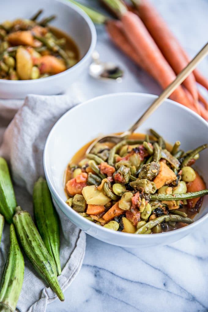 In less than 30 minutes, this healthy vegetable soup will bring comfort to your table with major nutrition benefits. Thanks to turmeric, easy frozen veggies and roasted nori (seaweed) this tasty detox soup recipe is full of nutrients and great for weightloss. Isn't hearty homemade soup the best?! Plus it's vegetarian, Paleo and gluten-free.