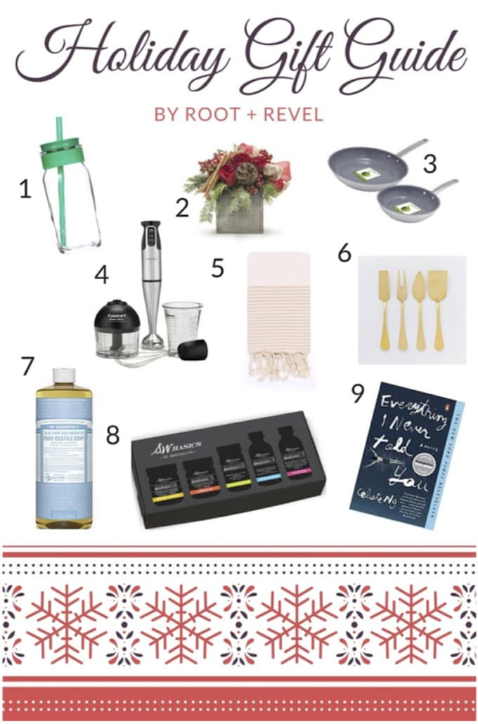 Root + Revel's holiday gift guide is full of green, non-toxic gift ideas from beauty products and kitchen gadgets to home decor and books. | rootandrevel.com