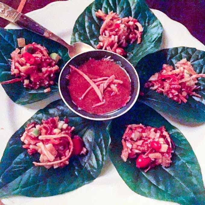 Thai betel leaves, one of the best things we ate this month. Check out the series for the full delicious round up of the best restaurant meals to homecooked recipes.   rootandrevel.com