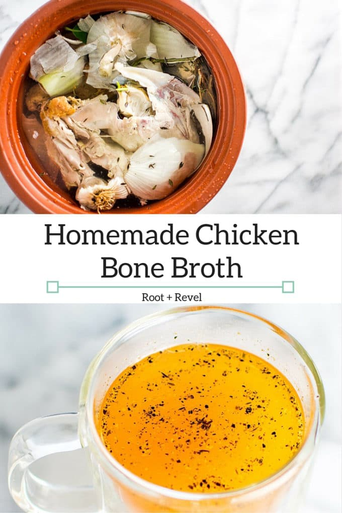 5 quick & easy steps to homemade bone broth, a nutritional powerhouse full of minerals & amino acids that heals digestion, inflammation, infections & more. | rootandrevel.com
