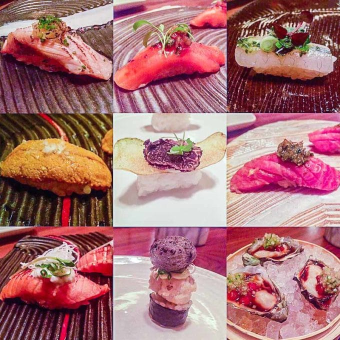 Nigiri at O-Ya, one of the best things we ate this month. Check out the series for the full delicious round up of the best restaurant meals to homecooked recipes. | rootandrevel.com