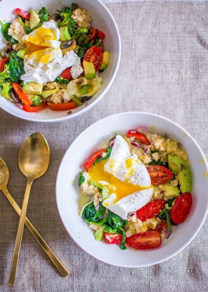 Mother's Day Recipes: Savory Oatmeal Breakfast Bowls