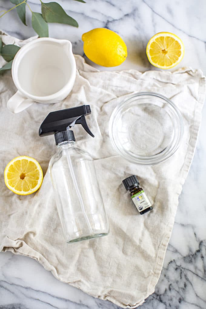 With just 3 ingredients, this DIY natural all-purpose cleaner comes together in under a minute + it's safe, effective and smells AMAZING! | rootandrevel.com
