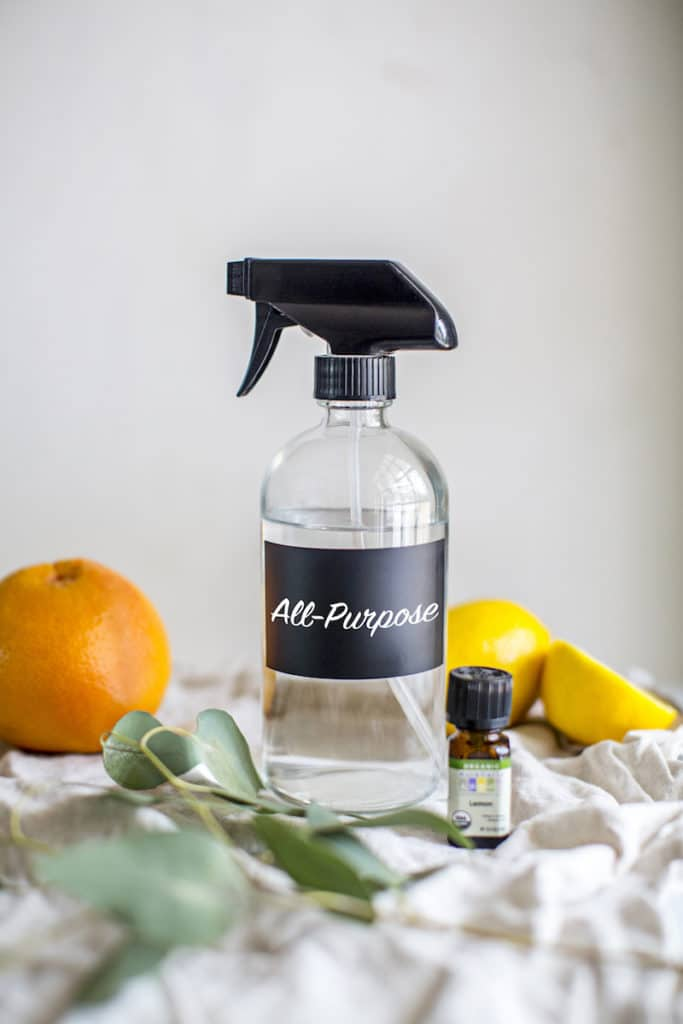 3-Ingredient DIY Natural All-Purpose Cleaner with Essential Oils With just 3 ingredients, this DIY natural all-purpose cleaner comes together in under a minute + it's safe, effective and smells AMAZING!