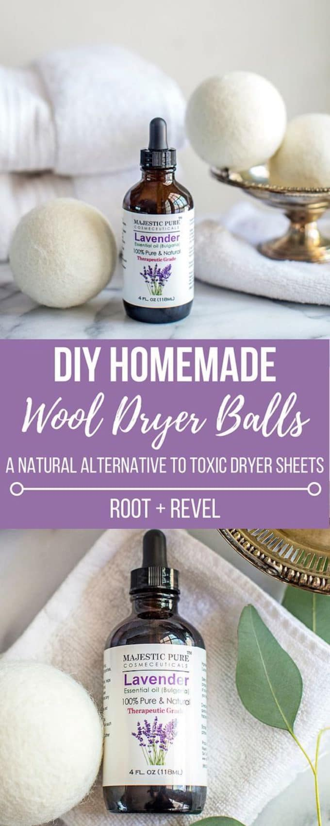 Toss toxic dryer sheets and fabric softeners for a natural alternative: wool dryer balls with essential oils are safe, energy-efficient, wallet-friendly and effective!