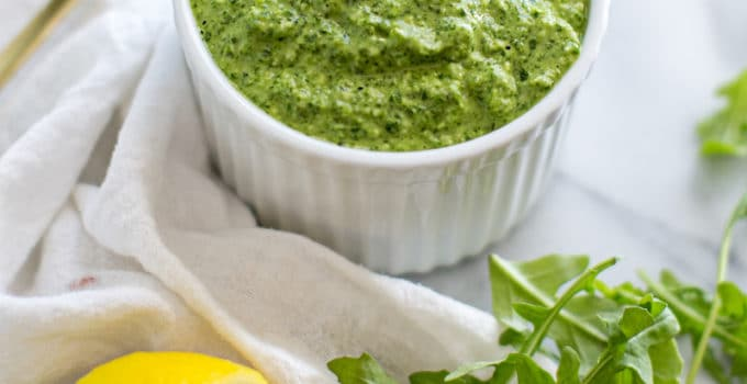 Homemade Arugula Pesto Sauce Recipe