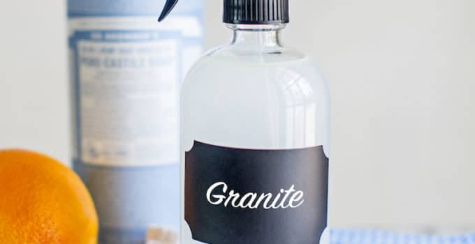DIY Natural Granite Cleaner with Essential Oils