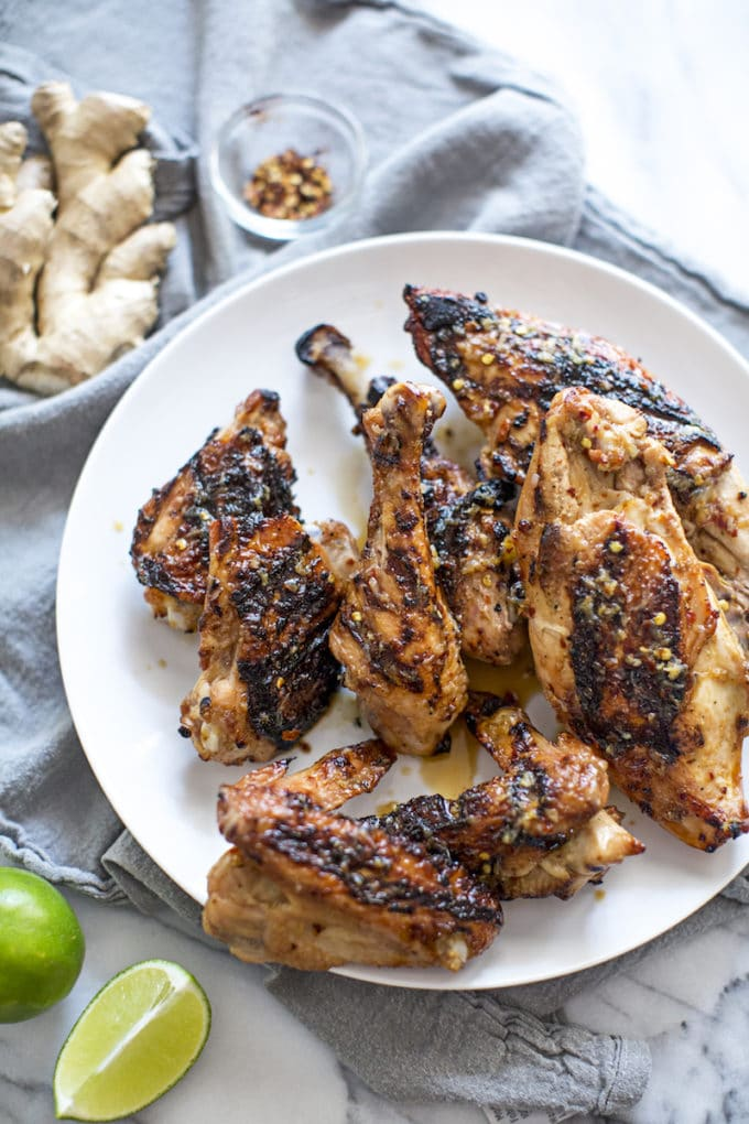 Thai Grilled Chicken recipe: marinade, tangy, easy, healthy, authentic flavor, grilling