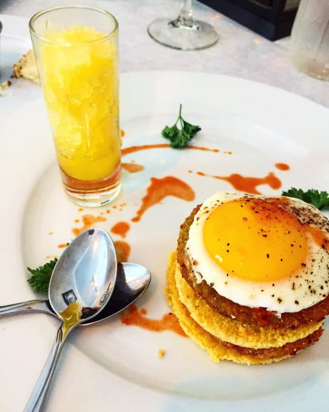 Fried Green Tomato Stack at Antebellum   The Best Things We Ate in June. In this series, we round up the best restaurant meals, blog recipes + at-home cooking adventures from the month.