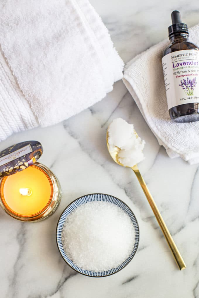 This DIY Epsom Salt Detox Bath is moisturizing (coconut oil) and relaxing (lavender). It boosts magnesium levels, soothes sore muscles and flushes toxins.