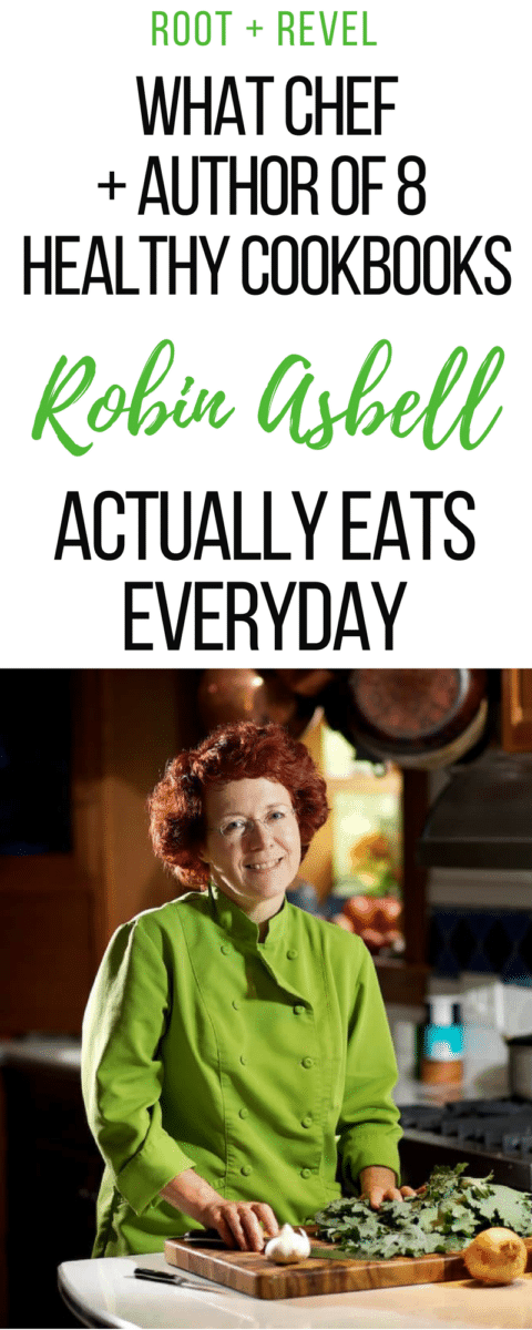 Robin Asbell's inspiring In Her Shoes interview: eating real whole foods, cooking from scratch and relying on natural remedies first.