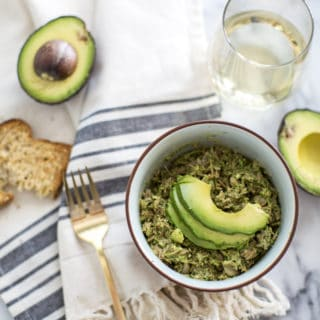 Tuna Salad Recipe with Avocado, White Beans and Pesto (Dairy Free)
