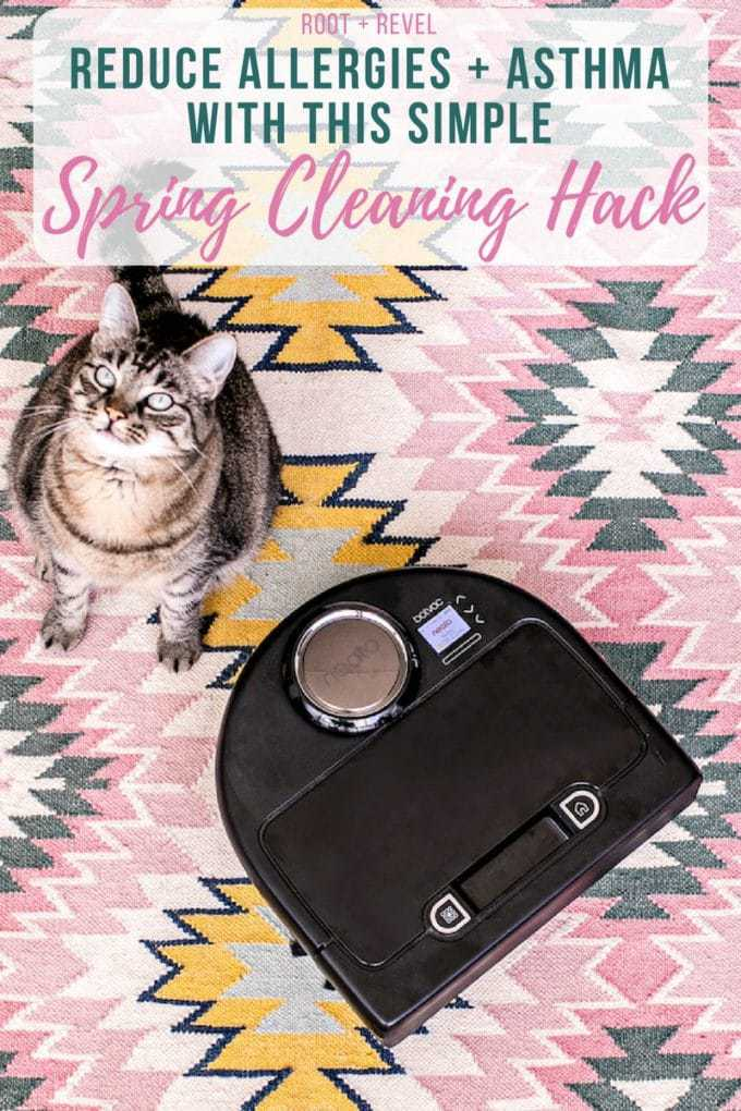 Spring Cleaning Hack Alert! Frequent vacuuming has been proven to reduce allergies and asthma--we recommend the Neato Robot Vacuum Cleaner, which captures dust, allergens and pet hair, and you don't even have to lift a finger!