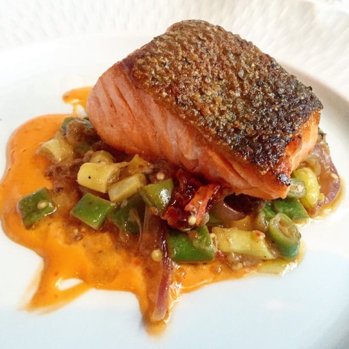 Salmon at Restaurant Eugene | The Best Things We Ate in August. In this series, we round up the best restaurant meals, blog recipes + at-home cooking adventures from the month.