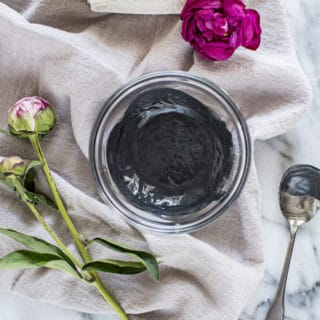 DIY Charcoal + Clay Face Mask for Acne and Blackheads