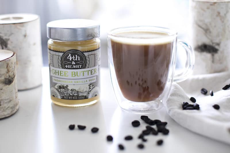 Fourth and Heart ghee is perfect for this butter coffee recipe.