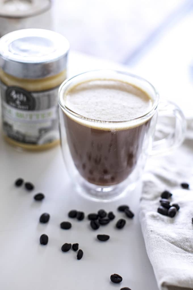 This butter coffee is creamy and full of healthy fats.
