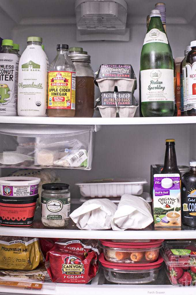 healthy fridge grocery list
