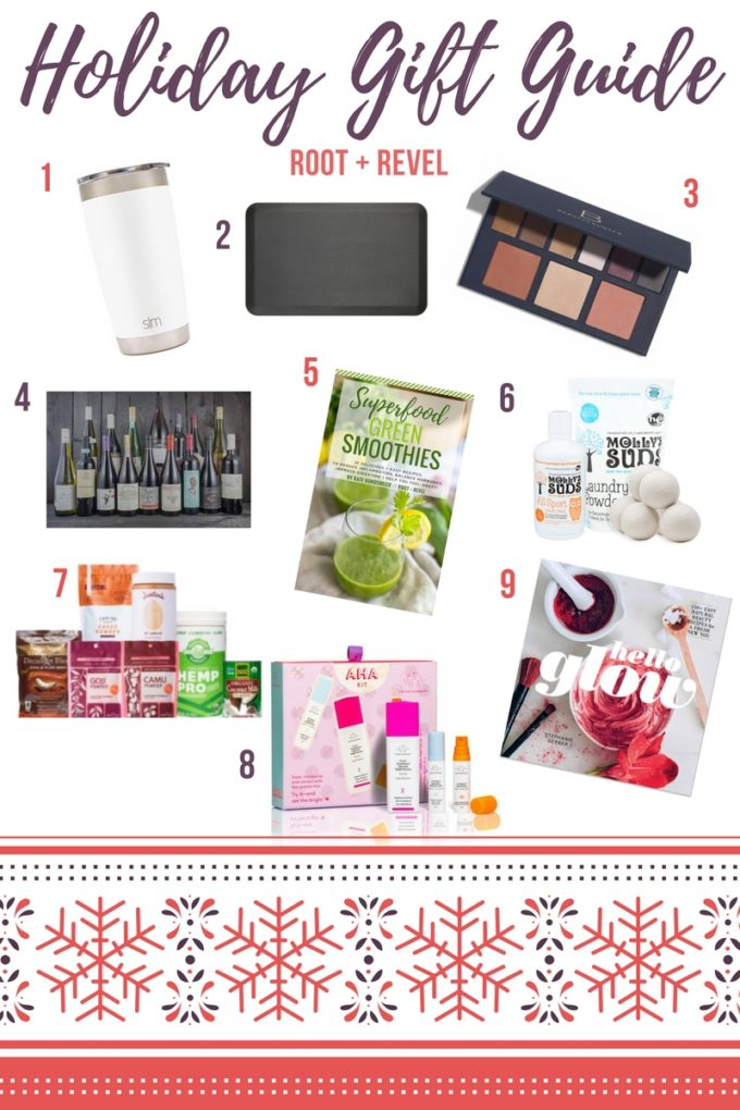 This healthy holiday gift guide is full of non-toxic, eco-friendly and all-natural Christmas gift ideas for everyone on your list (including YOU!), from unique gift baskets for foodies, wine lovers, beauty product junkies and more.