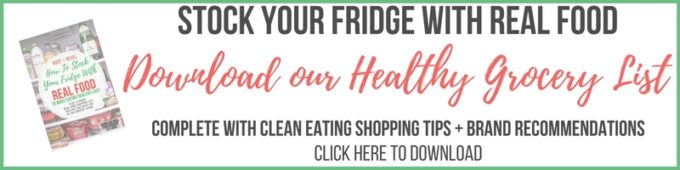 healthy grocery list for your fridge