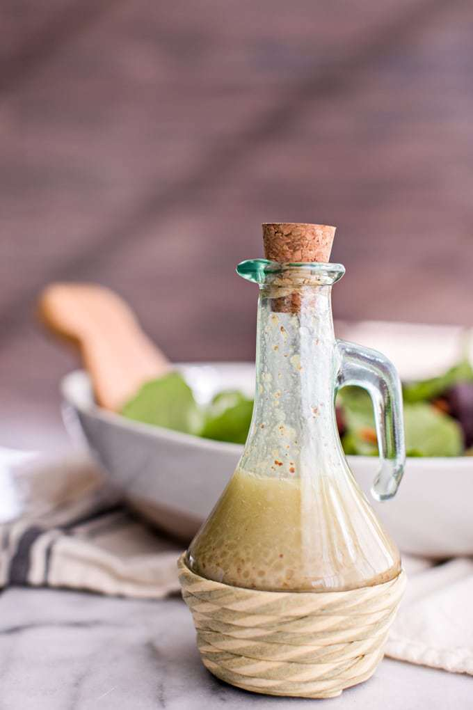 Store-bought salad dressing brands are often filled with excess sugar and sodium, inflammatory oils, preservatives and harmful additives like MSG, gums, and artificial colors and flavors. Fortunately, making your own salad dressing couldn't be easier--this healthy homemade vinaigrette is Paleo, gluten-free, vegan and absolutely delicious! Learn how to make it here.