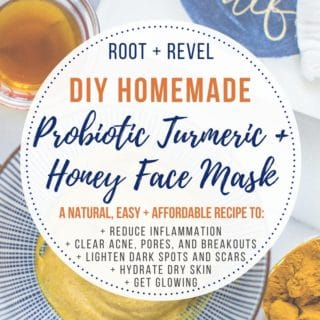 Get Glowing, Clear Skin with this Easy, DIY Probiotic Turmeric Honey Face Mask