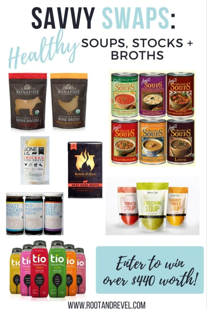 In our Savvy Swaps series, we analyze popular store-bought products and offer up healthier alternatives, without the negative additives. Today, we're tossing unhealthy, toxic soups, stocks and broths for safer, real-food-based, healthy soups, stocks + broths.