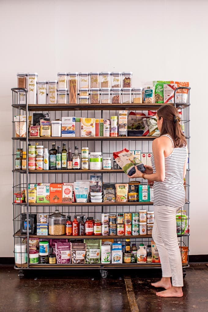 real food pantry staples and organization