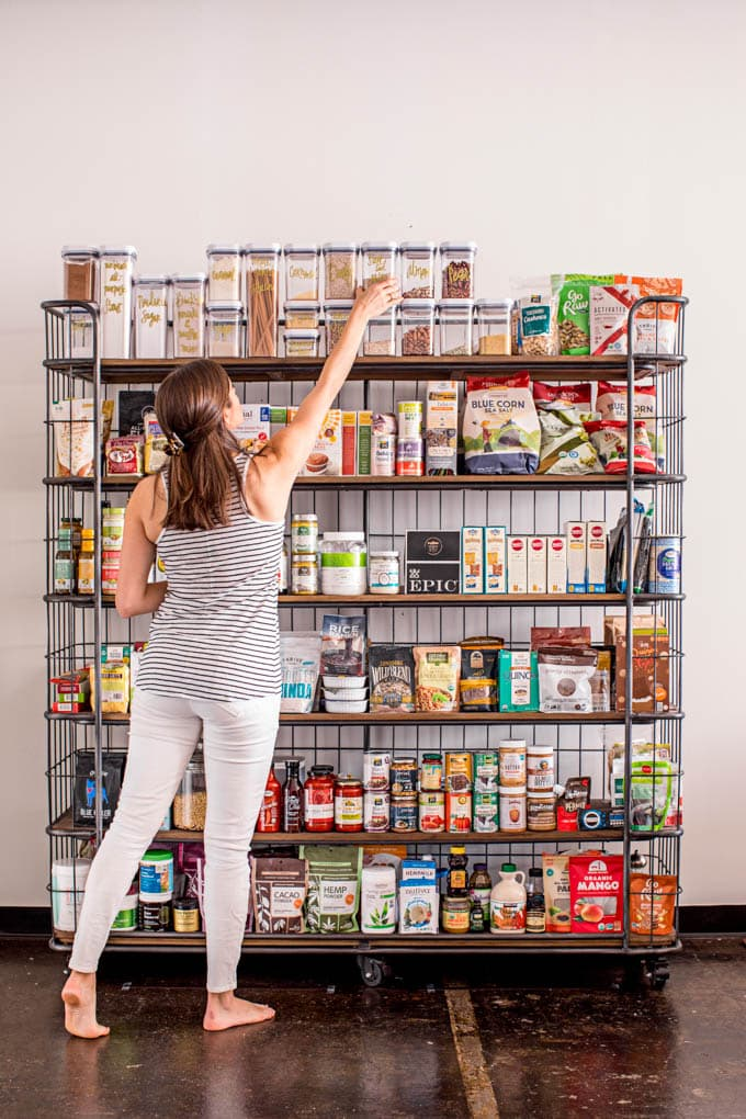 pantry organization with real food