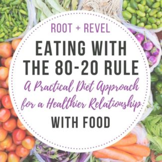 The 80-20 rule is a practical approach to following a clean eating diet that will help you create a healthier relationship with food. Learn what the 80/20 rule means for eating and how to realistically apply it to your diet so you can still enjoy delicious food and achieve optimal health.