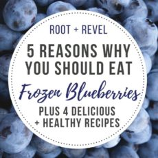 Frozen blueberries are a kitchen staple--versatile, delicious and a good source of fiber, these blueberries are picked at the peak of ripeness and flash frozen for maximum freshness. Here are four blueberry recipes you won't want to miss!