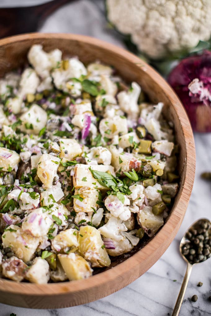 Healthy 4th of July Recipes: Sides + Salads - Cauliflower Potato Salad