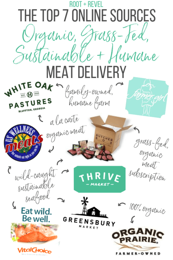 If you have trouble finding organic, sustainable and healthy grass-fed meat near you, check out these top seven online sources for humane, quality meats and wild caught seafood that deliver straight to your doorstep!