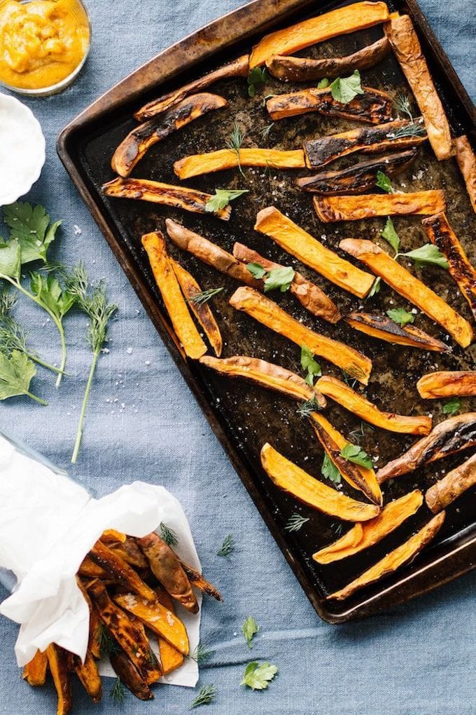 Healthy 4th of July Recipes: Sides + Salads - Sweet Potato Fries