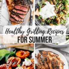A collection of healthy grilling recipes to get you prepped for your summer festivities! Gluten free, paleo and vegan recipes included.