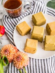 Chockfull of healthy fats and plant-based protein, thesePumpkin Pie Ketogenic Fat Bombs are dairy-free, gluten-free and Paleo, making them the perfect energy-giving snack, breakfast and even dessert!