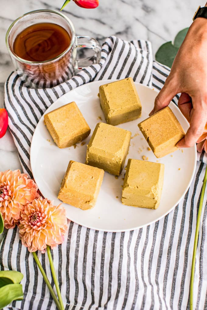 Pumpkin Pie Ketogenic Fat Bombs (Paleo) Chockfull of healthy fats and plant-based protein, these easy Pumpkin Pie Ketogenic Fat Bombs are dairy-free, gluten-free, Paleo, and low carb, making them the perfect energy-giving snack, breakfast and even dessert!