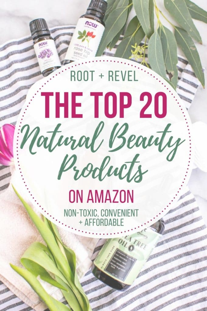 Natural Beauty doesn't have to be expensive or hard-to-find. You can find tons of natural beauty products on Amazon, where you can order from your couch and have it delivered right to your door! To wit, we've rounded up the 20 Best Natural Beauty Products on Amazon based on their clean, nontoxic ingredients, effective results and affordability. And we've tried them all personally, so we know they really work!