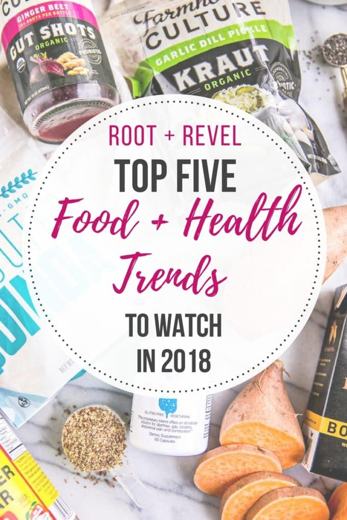 Get ahead of the curve with this sneak peek into the top five food and health trends to watch in 2018! From plant-based products taking over more of the market to superfood powder infused everything, here's what you can expect to be in vogue this year.
