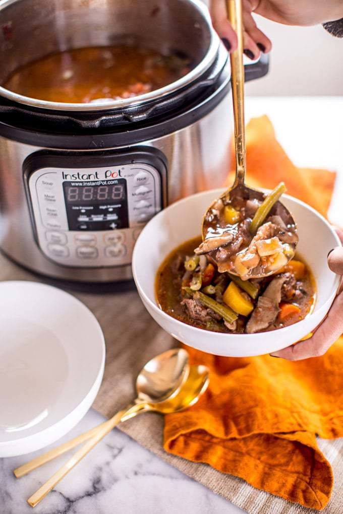 Healthy Fall Recipes Featuring Carrots with Instant Pot Keto Stew Recipe