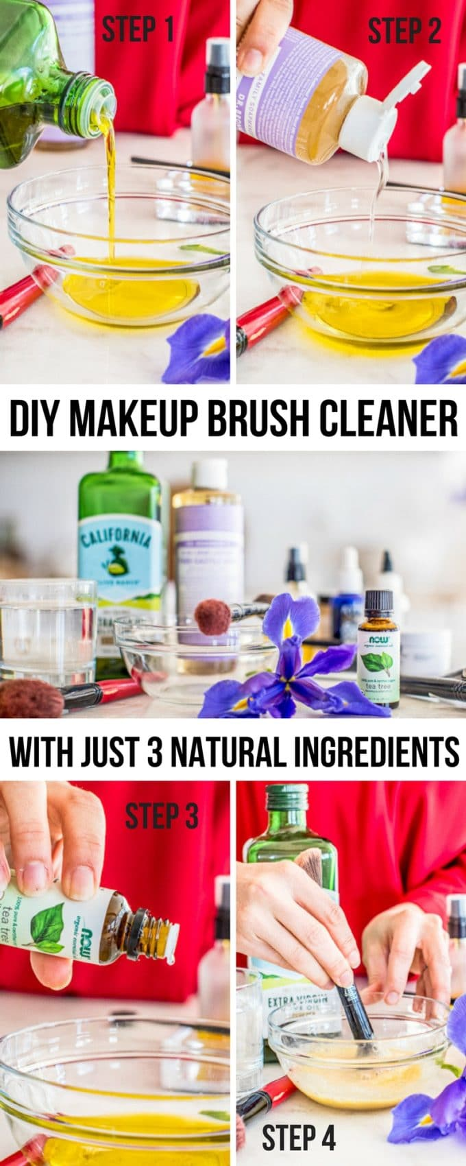 Say goodbye to toxic chemicals and expensive store-bought products. With this DIY Makeup Brush Cleaner, you just need three natural ingredients to make this easy and effective homemade solution.