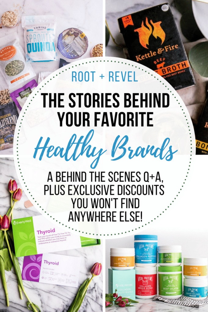 Today, we're interviewing the founders of some of our favorite healthy brands.From nutritious bone broth and collagen to innovative health testing kits to natural meat delivery, read on to discover what inspires these entrepreneurial leaders!