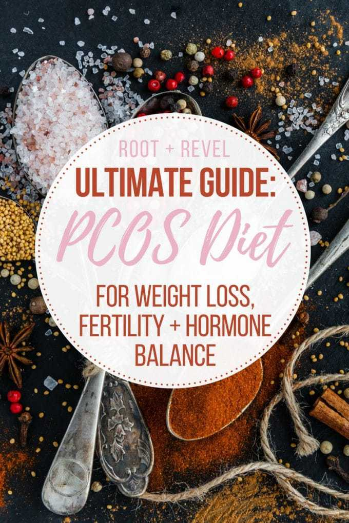 Whether you're looking to lose weight, boost fertility or simply balance your hormones, if you have PCOS, it's crucial to follow a PCOS Diet. Here we share the best and worst foods for PCOS, hormone balancing recipes, PCOS meal plans and menus and lifestyle changes to help you treat PCOS naturally. Bonus: there's a special section on insulin resistance!