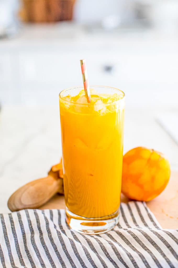This Anti-Inflammatory Turmeric Tonic is a true healing elixir filled with vitamins, minerals and superfoods! In this post we dive into the health benefits of turmeric curcumin and how to take turmeric.