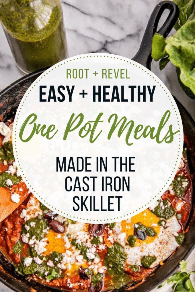 Need some easy and healthy cooking inspiration, without spending hours in the kitchen? Check out this collection of one pot meals made in your cast iron skillet, and get dinner on the table in no time!