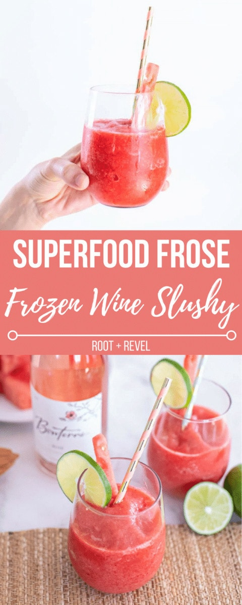 Superfood Frose Recipe (aka a Frozen Wine Slushy).