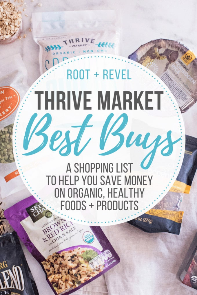 Save money on healthy eating with Thrive Market! In this post, we share a shopping list of our favorite best buys for pantry staples, healthy snacks, better-for-you treats, bath & body and eco-friendly home finds.