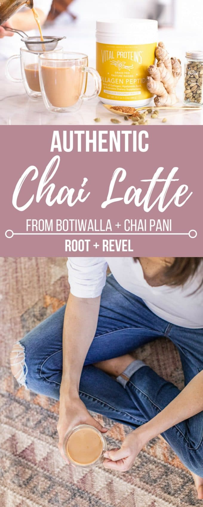 This authentic Chai Latte recipe comes from famed Indian restaurant, Botiwalla in Atlanta. Anti-inflammatory, chockfull of antioxidants and super creamy and decadent, this healthy chai tea latte is the perfect example of good and good for you! No processed concentrate, homemade, spicy and delicious!